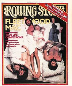 Fleetwood Mac in bed together. Rolling Stone cover.
