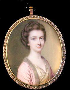 Ellison Fine Art | Stand B9 | Mrs. Elizabeth Way by John Smart, signed and dated 1768 | LAPADA Art & Antiques Fair 2014, Berkeley Square