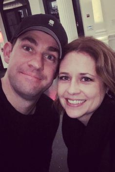 Pin for Later: The Office's John Krasinski and Jenna Fischer Have a Sweet Reunion in NYC