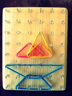 Getting Started in Spirit Play: Lap Geoboards  A D.I.Y. pegboard for use as a quiet, independent activity for younger children to enjoy while attending church service.