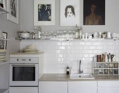 Black And White Kitchen Tiles | ... twists, a classic white kitchen can be so much more interesting