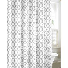 Tommy Bahama Shoretown Trellis Grey Cotton Shower Curtain (Shoretown) Bath Linens, Bath Towels, Silver Bathroom, Upstairs Bathrooms, Guest Bath, Bed & Bath, Curtain Shop, Modern Baths, Colorful Curtains