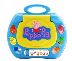 Join Peppa Pig as you play fun learning games with the Peppa Pig's My First Laptop. With four different game modes to play, there's plenty to do on this fun play laptop toy. Open up the screen to reveal the colourful picture of Peppa Pig at home with her brother George. $49.99