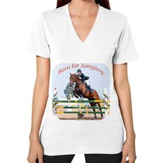 Equestrian Apparel - V-Neck (on woman) - Jumping