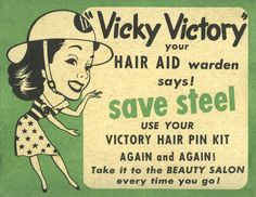 """During WWII, manufacturers took advantage of the idea of """"victory"""" to help boost their businesses. See more products with the National WWII Museum. (Gift of Rhoda L. and Roger M. Berkowitz)"""