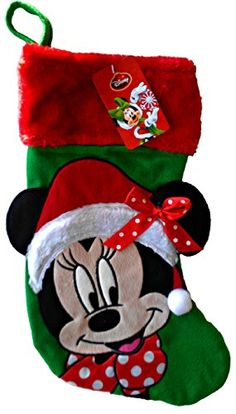 Disney Minnie Mouse 18 Inch Big Face Christmas Stocking *** You can get more details by clicking on the image.