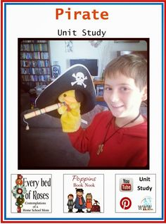 Every Bed of Roses: Pirates Unit Study - Poppins Book Nook #poppinsbooknook #storybookactivities  #onlinebookclubforkids