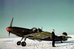 Messerschmitt Bf 109 F-4 V+12 of the Hungarian fighter squadron 5/2