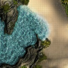 water dungeon D&D map - Google Search