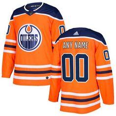 Men s Edmonton Oilers Customized Orange Authentic Adidas Jersey 4ceb44b54