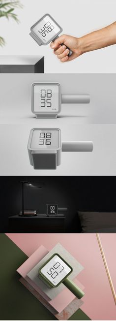 Jorge Ros – LEXON – Hammer Alarm Clock #designideas #designinspiration #design #productdesign #design #industrialdesign #clock #alarm