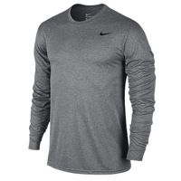 New Nike Athletic T-shirt Women Size M Dri Fit Training Heather Gray Long Sleeve To Suit The PeopleS Convenience Activewear Tops Activewear