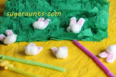 Easter Themed Oral-Motor Exercise with Straw.  Visit pinterest.com/arktherapeutic for more #oralmotor therapy games & activities