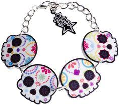 Sugar Skulls bracelet, $12.00 at Sourpussclothing.com