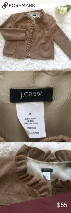 J. Crew Herringbone Fiona Jacket Condition: pre-owned; No pilling or stains; small rip on the inner lining under the arm. Can be sewn. Pet and Smoke Free Home!! Please see ALL pictures for details and measurements. J. Crew Jackets & Coats