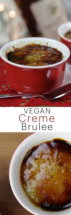 Yummy dairy-free creme brûlée is real! This is the BEST vegan creme brûlée you will ever have!
