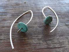 Sterling Silver Sleek Earrings Modern by maryannefountain on Etsy