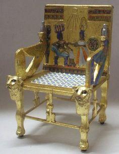 Miniature Egyptian Furniture On Pinterest Dollhouses