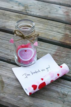 message in a bottle valentines party jelly beans in a bottle @sweetscarlet