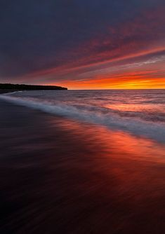 Sunset ~ Lake Superior, Houghton, Michican ~ by Jiqing Fan
