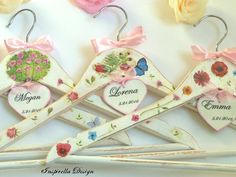 Wedding hangers Spring hangers Bridesmaid by InspirellaDesign