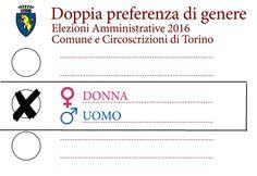 Auguri a tutte le donne di Torino! Quest'anno per la prima volta nella storia di Torino quando si andrà a votare si potrà esprimere una doppia preferenza: si potranno votare insieme una donna e un uomo dello stesso partito che si candidano per il Consiglio Comunale di Torino. E' una grande svolta 70 anni dopo il diritto delle donne di andare a votare! Diritti e Pari Opportunità per tutti e tutte! Ora c'è la doppia preferenza uomo donna anche alle elezioni amministrative di Torino 2016! Forza…