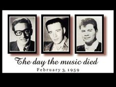 ♡♥On Feb plane crash victims Buddy Holly JP Richardson 28 and Ritchie Valens only 17 yrs old all died together♥♡ Illuminati, Michael Jackson, Clear Lake Iowa, Just A City Boy, Ritchie Valens, Don Mclean, Buddy Holly, American Pie, All About Music
