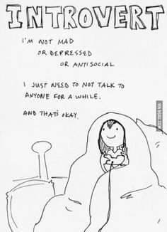 Introverts. So me!