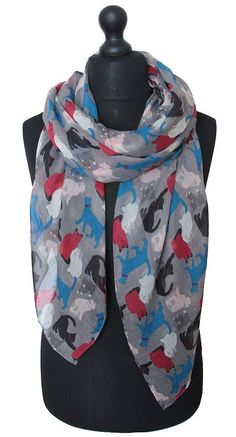 Cat Print Scarf | Cat Scarves for the Stylish Cat Lady | Cat Lady Confidential