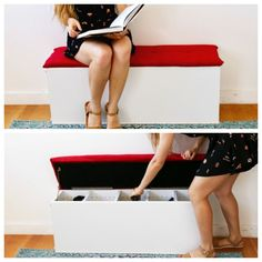 Declutter Your Mudroom With This Easy DIY Storage Bench