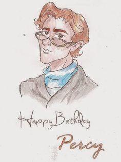 Percy Weasley Harry Potter Artwork, Harry Potter Fandom, Happy Birthday Percy, Beautiful Artwork