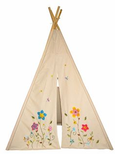 My wife had a play tent as a kid that attached to her mattress.  This looks much easier to maintain, not to mention it's 6 feet tall.  Love the embroidery on the bottom.  Definitely gonna pick one of these up for Matilda.