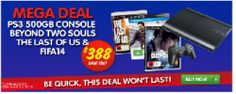 $388 only for PS3 500GB Console + The Last of Us + Beyond: Two Souls + FIFA 14 @ Dick Smith!