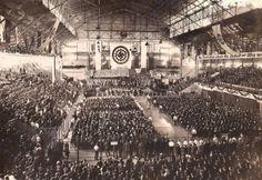 Difunden fotos nunca vistas del enorme festejo nazi en el Luna Park