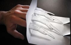 Amazing Three-dimensional Illusion Drawn on Paper with a Pencil