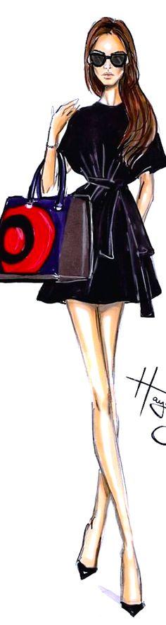 ♔ i l l  p o p {fashion illustration}  Hayden Williams-Beckam