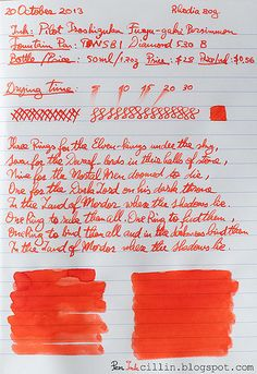 Pilot's Iroshizuku Fuyu-gaki Persimmon is a beautiful, polarizing vermillion ink, rich in appearance and smooth in flow. It has some very nice shading especially if used with broader nibs which can be a perk if broad nibs are what you prefer because personally I don't think fine nibs do it justice. On the other hand this is also an Iroshizuku, which puts it way above the crowd in terms of price. Is it worth buying? That's up to you to decide. While a Toyota provides sufficient utility to…