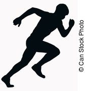 Stock Illustration of marathon runner running silhouette - illustration of a... csp7858876 - Search Clip Art, Drawings, Illustrations, and Vector EPS Graphics Images