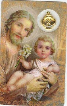 Catholic Prayers, Catholic Art, Catholic Saints, Roman Catholic, St Joseph Prayer, Saint Joseph, Pictures Of Jesus Christ, Religious Pictures, Religion Catolica