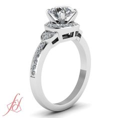 .80 Ct Round Cut Innovative Halo Diamond Adorable Pave Set Engagement Ring White Gold