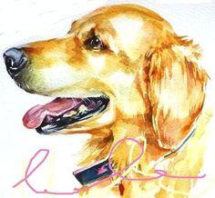 YOUR PET Portrait in watercolor  9x11 inch original by lulabies, $55.00
