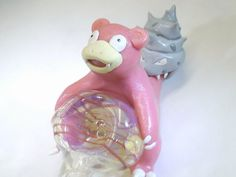This is something I need! Slowbro Smoking Pipe Pokemon Pipe by JimwillieMiniatures on Etsy, $129.99