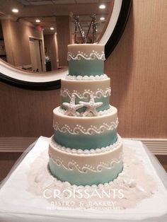 Beach Wedding Cakes Brilliant Myrtle