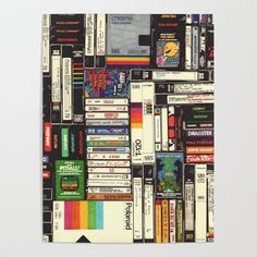 Cassettes, VHS & Games Wood Wall Art by hollisbrownthornton Vhs Cassette, Affordable Wall Art, Diy Frame, Wall Art Designs, Cool Diy, Wood Wall Art, High Quality Images, Iphone, Vintage Posters