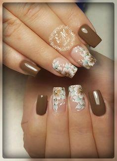 Trendy fails art facile one stroke 67 ideas Fancy Nails, Cute Nails, Pretty Nails, Fall Nail Art Designs, French Nail Designs, Bright Nail Art, Cute Spring Nails, Maroon Nails, Pearl Nails