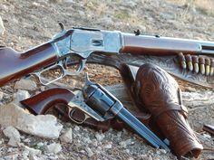 colts, 1873 SAA and 1873 Winchester Western Holsters, Cowboy Action Shooting, Lever Action Rifles, Hunting Rifles, Hog Hunting, Custom Guns, Gun Holster, Military Guns, Cool Guns