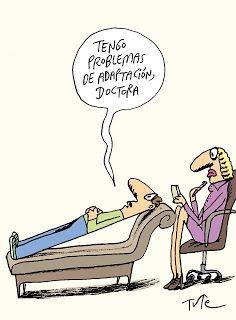 PSICOCHISTES: El humor de Tute. Tengo problemas de adaptación, Doctora.