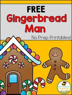 Free Gingerbread Man Activity Pack   You'll love this pack of SEVEN free activities to go along with your gingerbread man theme! Included are an emergent reader color by number patterns estimation color by code graphing and hundreds chart mystery picture!  Get all of these FREE on my blog here!  christmas Color By Code Emergent Reader Gingerbread Man graphing hundreds chart k-1 Mrs. Thompson's Treasures No Prep printables patterns