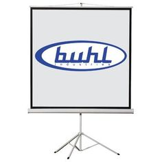 Buhl Matte White Portable Projector Screen Viewing Area: