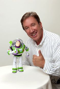 "Buzz Lightyear, voiced by Tim Allen, ""Toy Story"" - 1995 Tim Allen, Disney Love, Disney Magic, Disney Pixar, Walt Disney, Disney Stars, Disney Films, Disney Characters, Toy Story 1995"